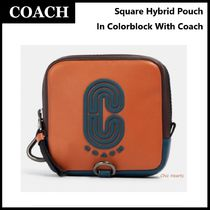 SALE!![追跡あり]COACH★Square Hybrid Pouch With Coach Patch