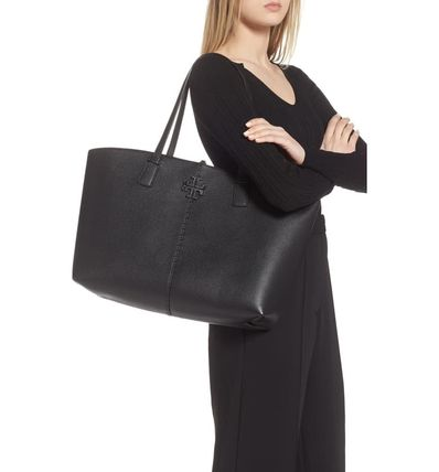 Tory Burch マザーズバッグ 関税送料込 TORY BURCH McGraw Leather Tote(3)