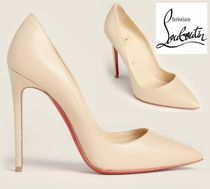 CHRISTIAN LOUBOUTIN☆Camel So Kate 120 Leather Pumps