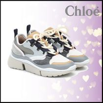 ♥Chloe♥Sonnie leather and suede sneakers