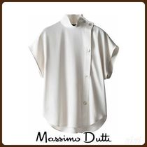 MassimoDutti♪BLOUSE WITH SHOULDER BUTTONS AND PLACKET