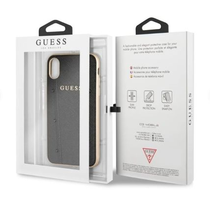 Guess スマホケース・テックアクセサリー 【GUESS】iPhone X/XS/XR/XS MAX Kaia Collection レザーケース(3)