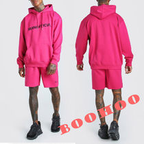 ★boohoo★MAN OFFICIALプリントショートパンツセットアップpink