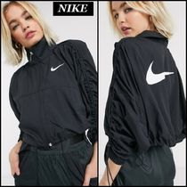 【Nike】ruched sleeve シャーリング ジップアップ ジャケット♪