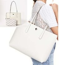 KATE SPADE  large molly cabana dot レザー tote A4収納可能