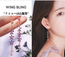 wing bling(ウィングブリン) ピアス WING BLING★アイユー(IU)着用★LAVENDER BLOOM イヤリング