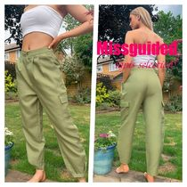 【Missguided】Missguided balloon cargo trousers in khaki