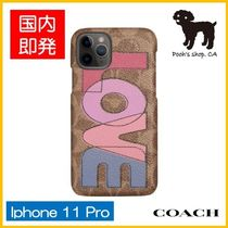 【COACH】Signature Canvas Iphone 11 Pro ケース◆国内発送◆