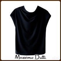 MassimoDutti♪DRAPED T-SHIRT WITH BACK BOW