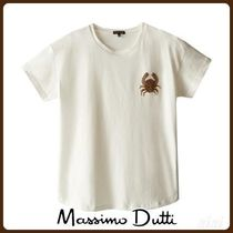 MassimoDutti♪COTTON T-SHIRT FEATURING DRAGONFLY DETAIL
