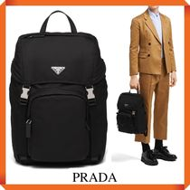 PRADA NYLON SAFFIANO LEATHER BACKPACK