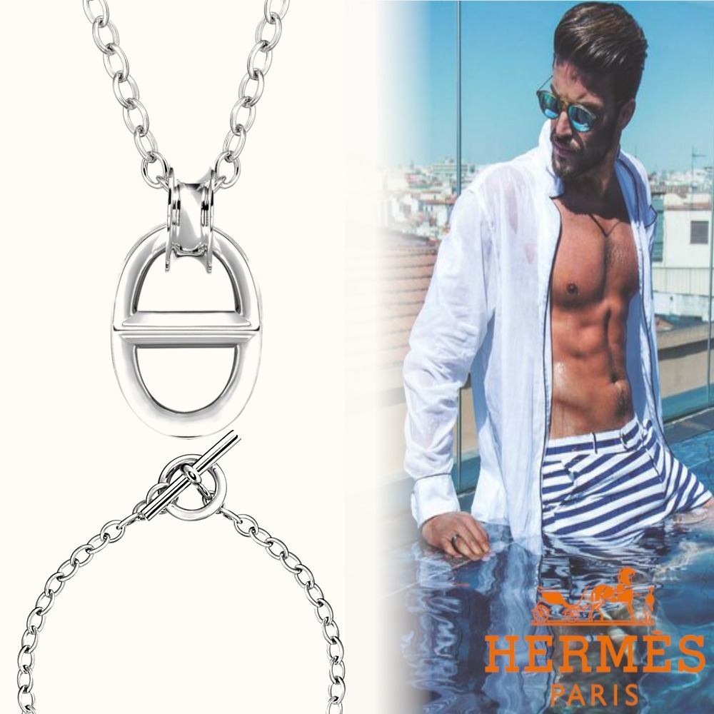 unisex ◆Hermes直営店◆ 人気のアクセント☆ペンダント Reponse (HERMES/ネックレス・チョーカー) 55729504