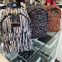 MARC JACOBS キルティング ナイロン プリント バックバック