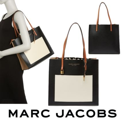 MARC JACOBS【The Colorblocked Grind Bag】レザー トートバッグ