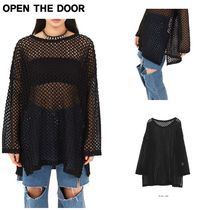 日本未入荷★OPEN THE DOOR★black net layered T - UNISEX
