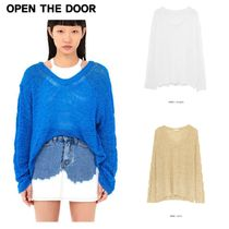 日本未入荷★OPEN THE DOOR★twist v-neck knit (3 color)