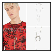 GIVENCHY☆ 真鍮 ネックレス with RING & クロス ペンダント