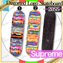 20SS /Supreme Distorted Logo Skateboard  Deck ロゴ デッキ