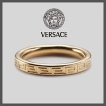 【正規品】国内発送☆VERSACE ENGRAVED GREEK KEY RING