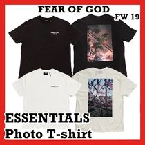 FEAR OF GOD ESSENTIALS Photo T-shirt TEE BLACK WHITE FW 19