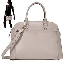 特別価格!kate spade Mサイズ Louise  Dome Satchel TRUE TAUPE