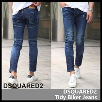 【D SQUARED2】Dark Deep Blue-Wash Tidy Biker Jeans