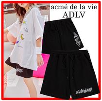 TWICE着用☆acme」de la vie☆OUTLINE LOGO SHORT PANTS☆WOMEN