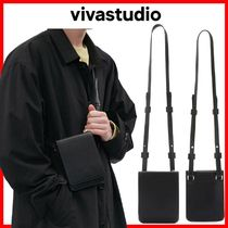 ★韓国の人気★VIVASTUDIO★MINIMAL LEATHER BAG JS★BLACK★