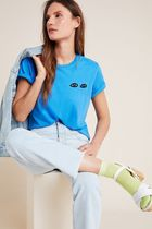 Clare V. for Anthropologie Les Yeux Graphic Tee