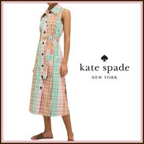 kate spade☆rainbow plaid shirtdress シャツドレス☆送料込