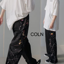 COLN Bound Painted Elastic Trousers (2color)