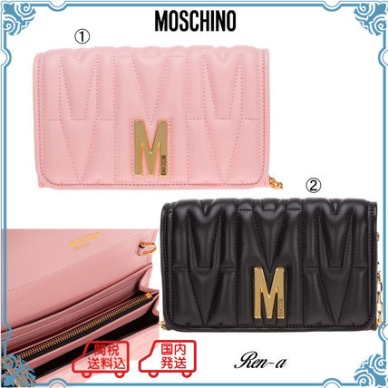 Moschino 長財布 関送無料・国内発送★Moschino★M QUILTED チェーンウォレット