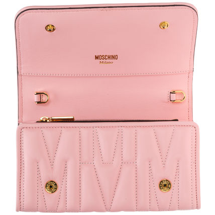 Moschino 長財布 関送無料・国内発送★Moschino★M QUILTED チェーンウォレット(3)