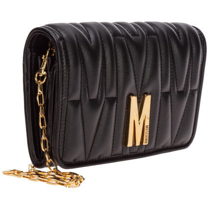 Moschino 長財布 関送無料・国内発送★Moschino★M QUILTED チェーンウォレット(9)