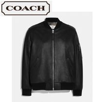 Sale★【Coach】ジャケット★ Leather Ma-1 Jacket