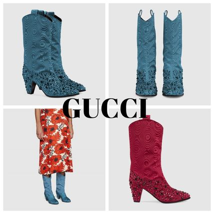 GUCCI ミドルブーツ GUCCI Women's boot with crystals