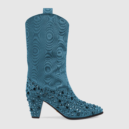 GUCCI ミドルブーツ GUCCI Women's boot with crystals(2)