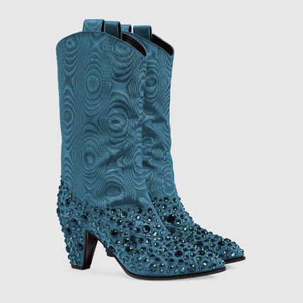 GUCCI ミドルブーツ GUCCI Women's boot with crystals(3)