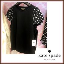 kate spade☆lia dot mixed media tee 復刻 ドット柄☆送料込