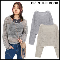 韓国ブランド★OPEN THE DOOR☆india crop knit (2 color)