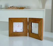【SOSO COMMA】Wood folding picture frame