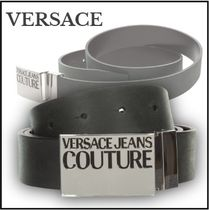 【VERSACE JEANS COUTURE】ロゴ付き*調整可能*レザー*ベルト☆