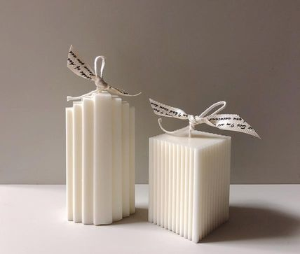 DECO VIEW キャンドル 【F5NATURE】Cloud Candle , Block Candle