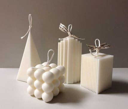DECO VIEW キャンドル 【F5NATURE】Cloud Candle , Block Candle(5)
