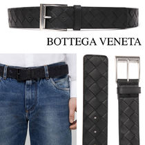 BOTTEGA VENETA INTRECIATO CALF LEATHER BELT 35MM