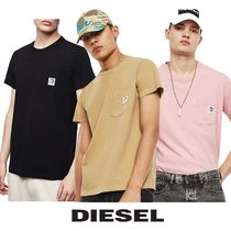 *DIESEL*ロゴ ポケット Tシャツ T-WORKY-MOHI-S1