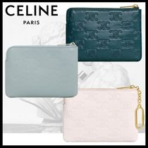 CELINE☆カードホルダー☆COIN & CARD POUCH WITH HOOK