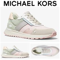 【Michael Kors】●セール●Monroe Canvas and Suede Trainer