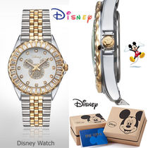 DISNEY☆mickey mouse Gold/Sulver Watch 時計☆ 韓国本社正規品
