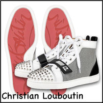 ★Christian Louboutin★Lou Spikesハイトップスニーカー マルチ